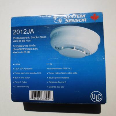 avertisseur de fumee photoelectronique avec klaxon de 85 dB